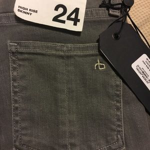 rag & bone Jeans - Rag & Bone Grey Hi Rise skinny